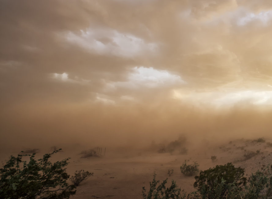Dust storm in Arizona.