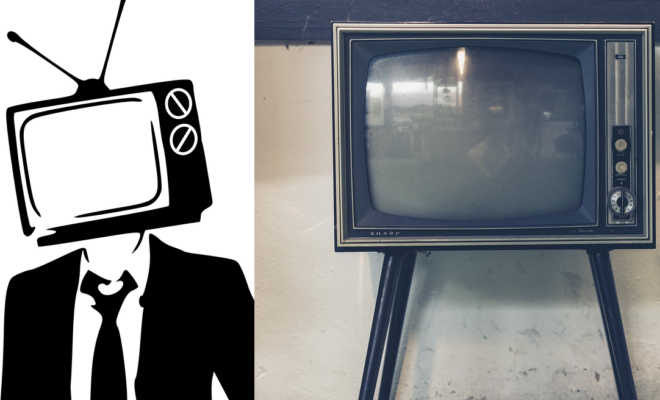 Watch: Man with Bizarre TV Mask On Head Leaves Old TVs on Lawns