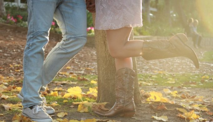 Just the boots engagement picture