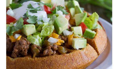 Taco Cornbread Waffles