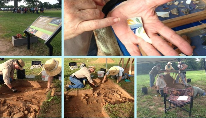 Texas Archaeological Society at a field school