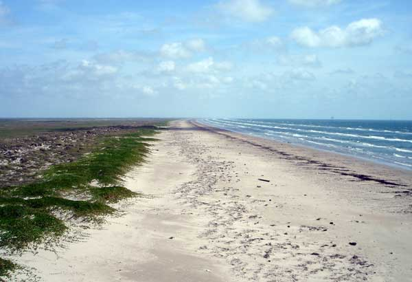10. A barrier island adjacent to Matagorda Island west of Aransas Bay. On July 26, 1845, Lt. Chandler of the USS Alabama waded ashore and planted the first American flag to fly over Texas territory.