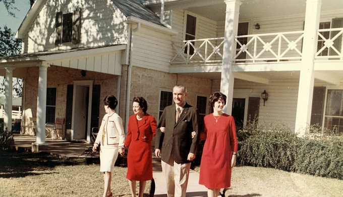 Texas Christmas Day at the LBJ Ranch in 1963
