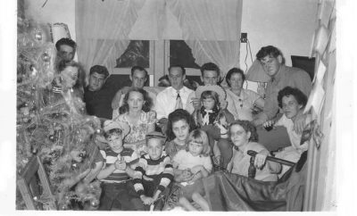 Texas Christmas family in 1948