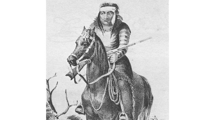 Texas Hill Country Native Americans included the Lipan Apache like this warrior on a horse