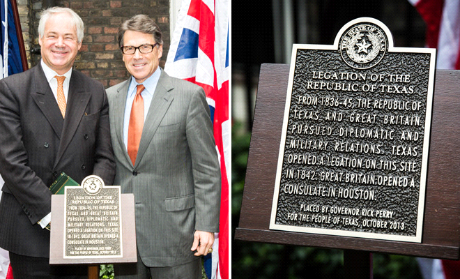 Texas Legation Sign and Governeor Rick Perry
