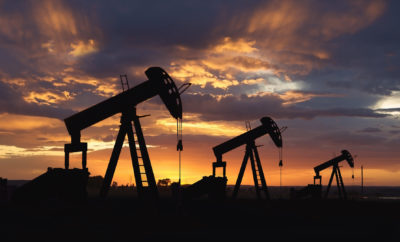 Texas Oil Field at Sunset