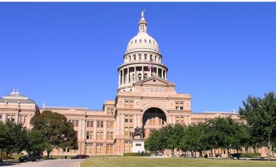 Texas Pink Granite Shows Its Color in the Sun in This View of the Texas Capitol
