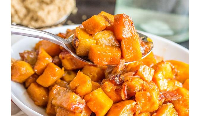 Thanksgiving side dish recipes brown sugar bacon roasted sweet potatoes