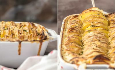 Thanksgiving side dish recipes garlic herb scalloped potatoes
