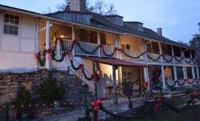 The Kreische House decked out for the holidays at Monument Hill and Kreische Brewery State Historic Site