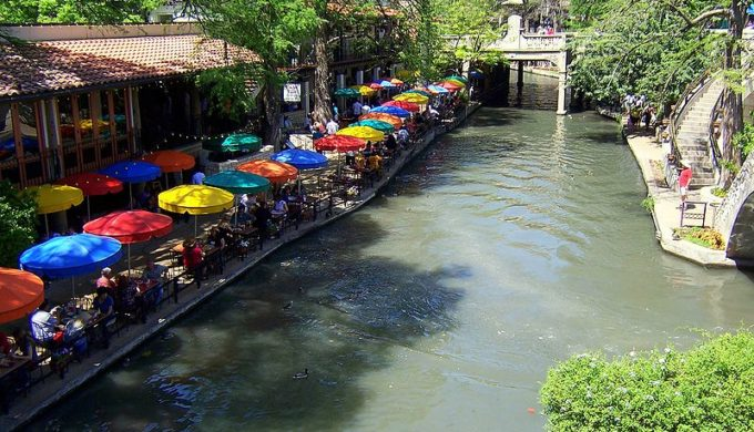 The River Walk flood control system protects businesses like Casa Rio