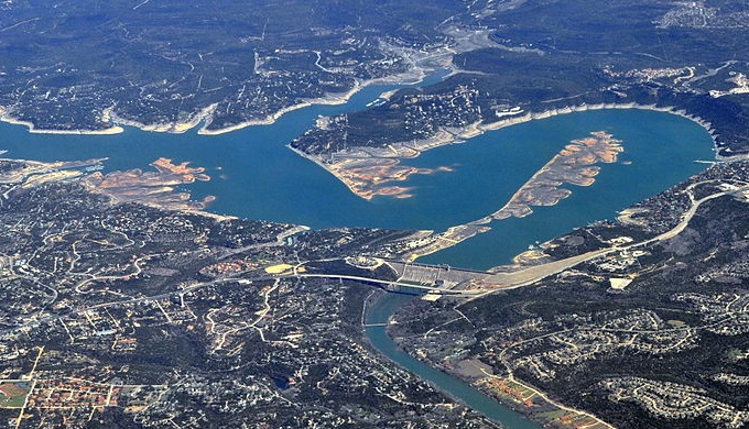 The Sometimes Islands in Lake Travis connected to create a peninsula in 2015.