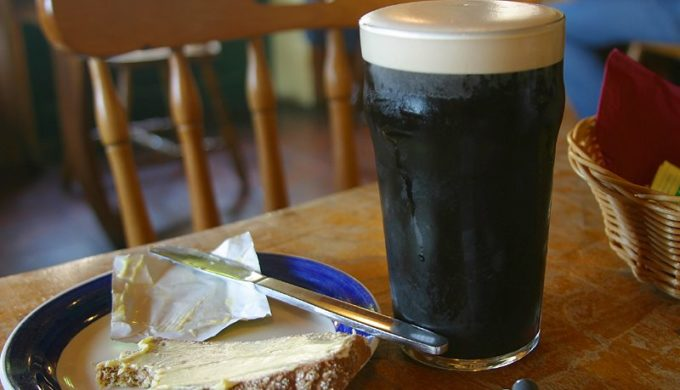 The creamy top is common with bold stout beers