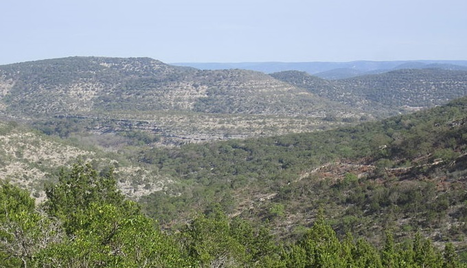 The rolling hills of the Hill Country are attributed to its karst topography
