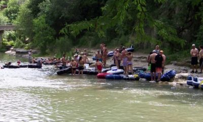 Tubing at the Guadalupe River