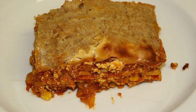 Vegan Lasagna for an alternative Thanksgiving dinner