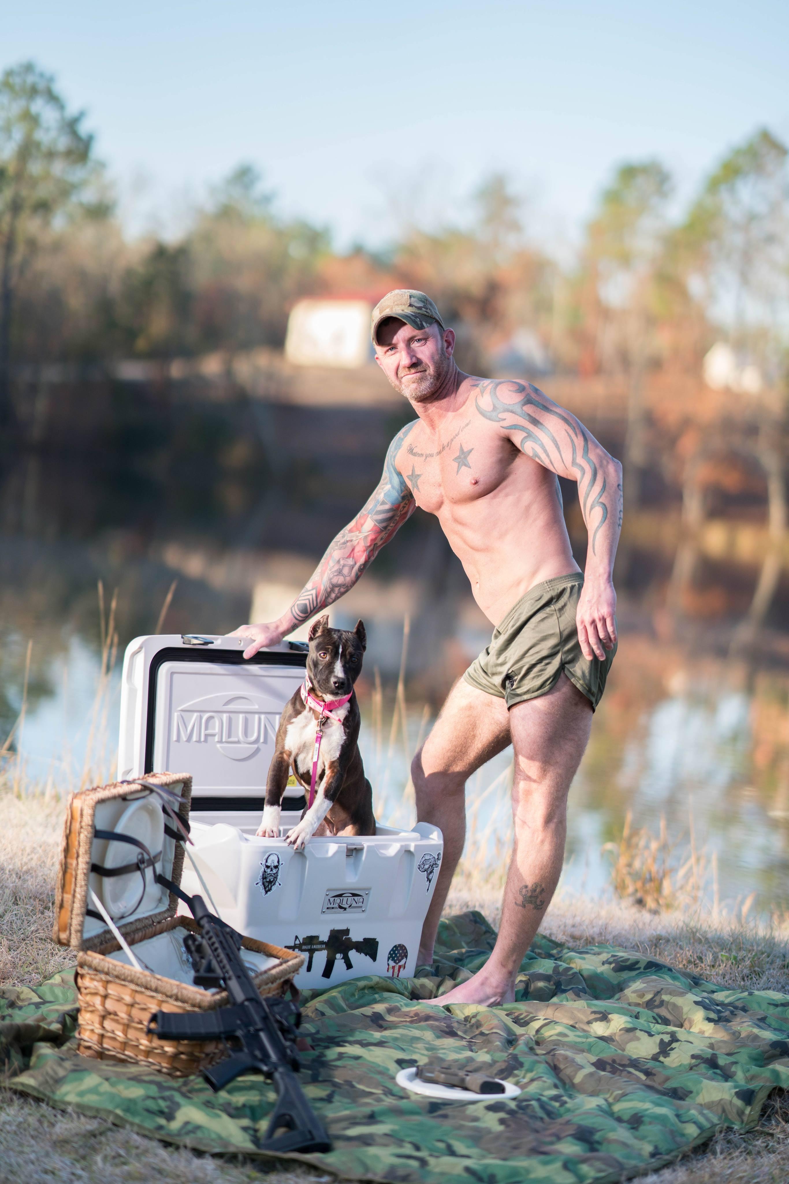 Veterans and Pitbulls Team Up for Unforgettable SDGF Calendar Shoot2