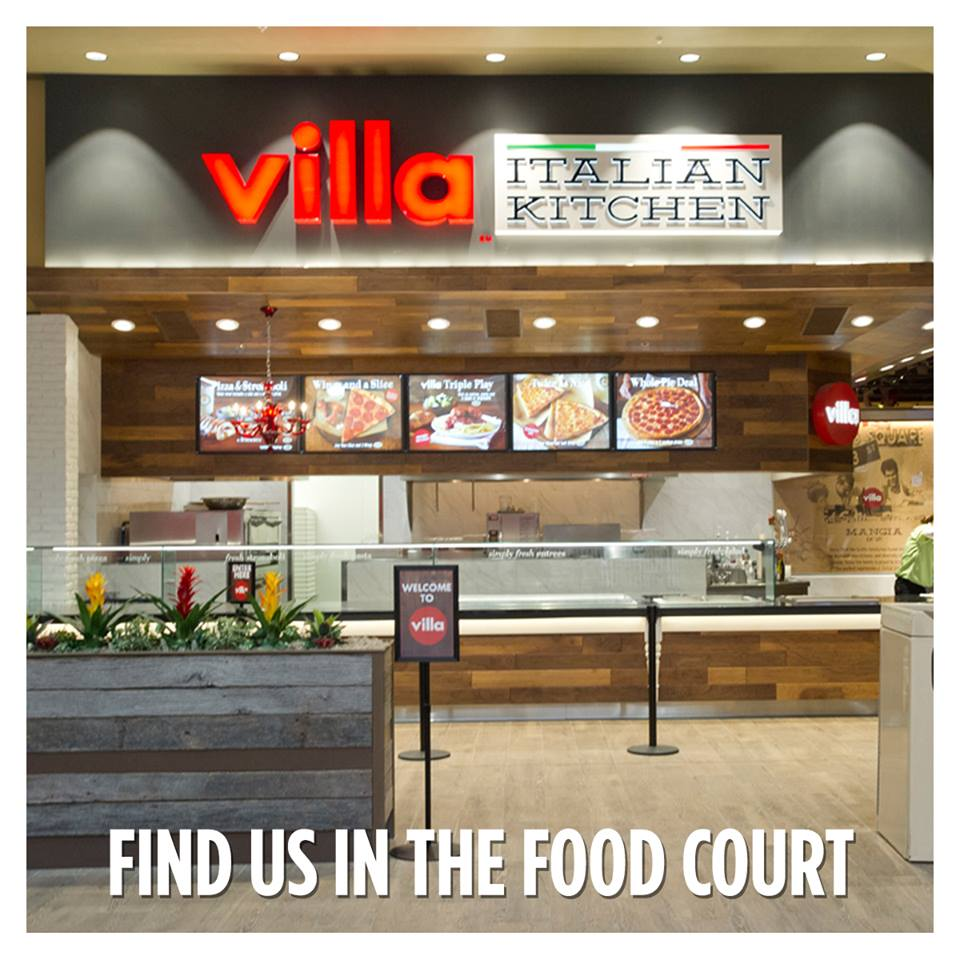Villa Italian Kitchen restaurants typically are found in mall food courts