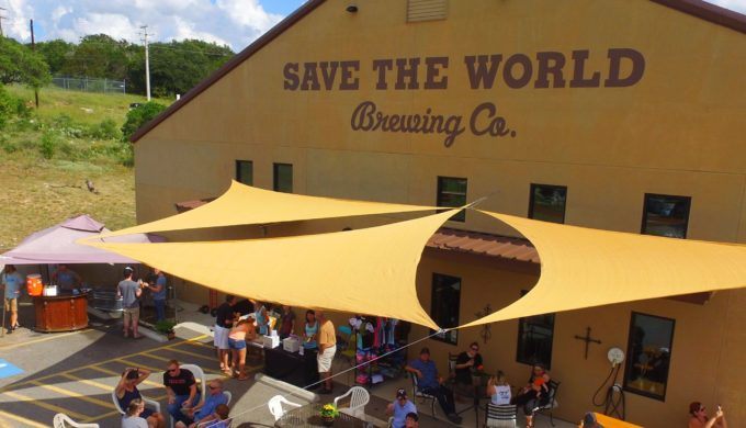 Visisting Save the World Brewing Company is one of the many Marble Falls activities you can do in the winter