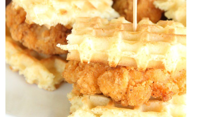 Waffle Recipes Chicken and Waffles with Buttermilk Syrup