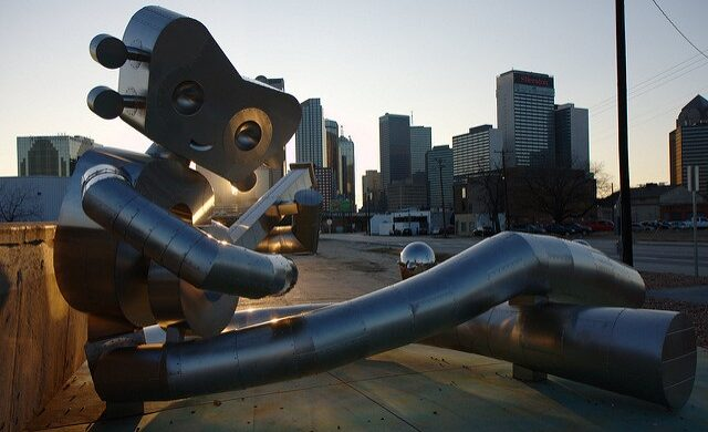 See the Larger than Life Traveling Man: Statues Symbolic of One Texas Neighborhood