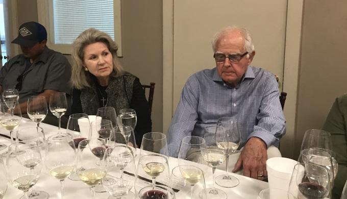 Susan and Ed Auler at Fall Creek Vineyards