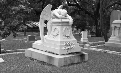 Weeping Angel at the Glenwood Cemetery, Houston