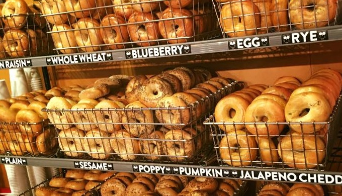 Wholy Bagel boils then bakes their authentic New York style bagels