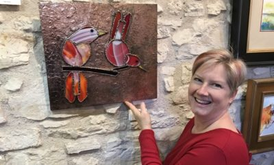 Deb Wight with creation