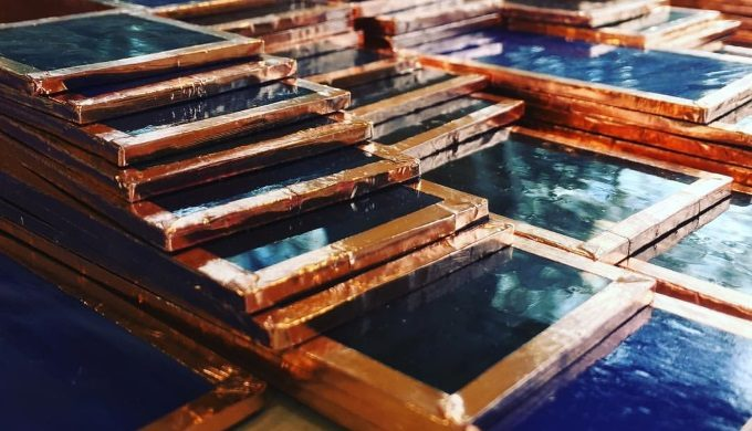 Glass and Copper Detail