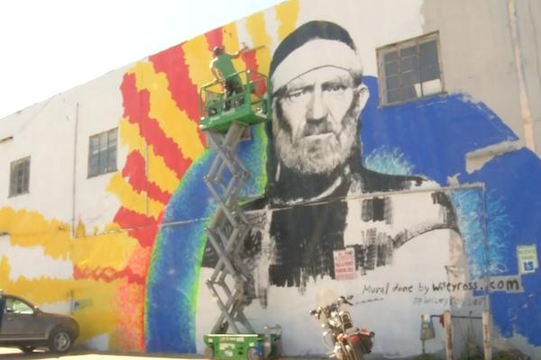 Willie Nelson Mural Austin