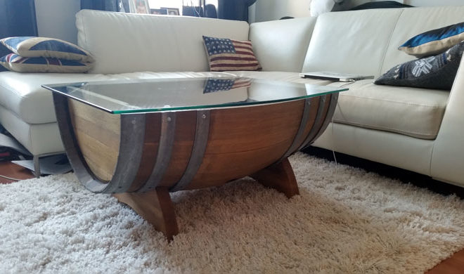 Wine Barrel Coffee Table.Repurpose A Hill Country Wine Barrel Into A Coffee Table With Hidden