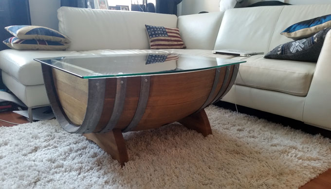 Repurpose A Hill Country Wine Barrel Into A Coffee Table