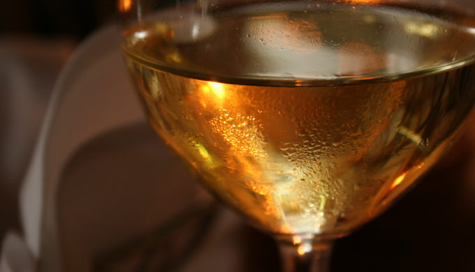Glass of Chilled White Wine