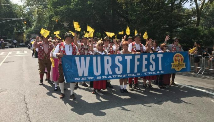 Wurstfest represented at a New York City parade