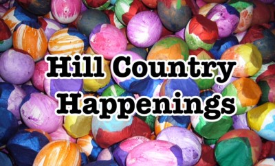 Hill Country Happenings over colorful egg shells