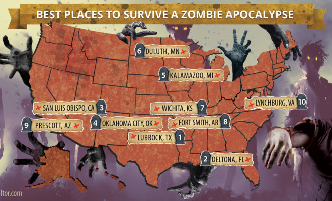 Lubbock Named Best Able to Survive a Zombie Apocalypse on zombie outbreak map, zombie infection map, zombie survival city, zombie virus map, zombie pandemic full map, zombie survival bike, zombie survival map minecraft, zombie game maps, zombie city map, zombie survival sheet, zombie minecraft adventure maps,