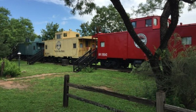 Caboose cabins at The Antlers