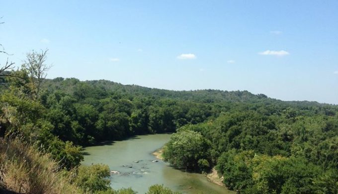 Pine Bluff Overlook at McKinney Roughs Nature Park