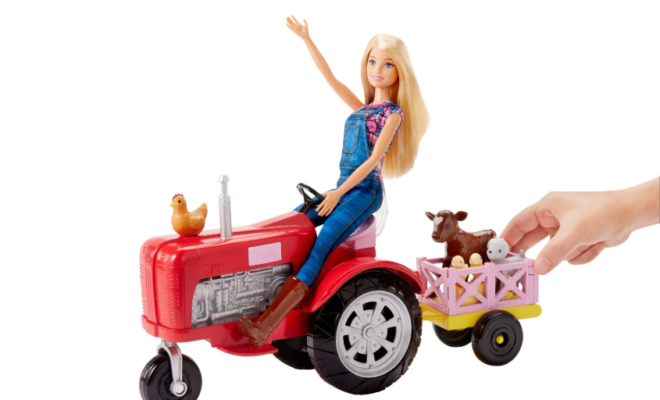 Farmer Barbie is a Thing! With her own Tractor and Chickens