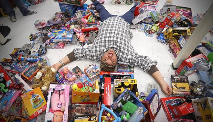 Santa Claus bexar-county-sheriff-volunteer-collapsed-among-the-toys
