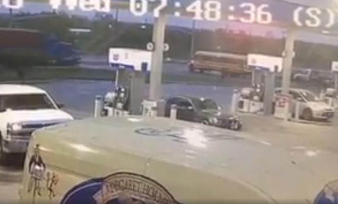 Shocking Video: 18-wheeler Crashes Into Texas School Bus