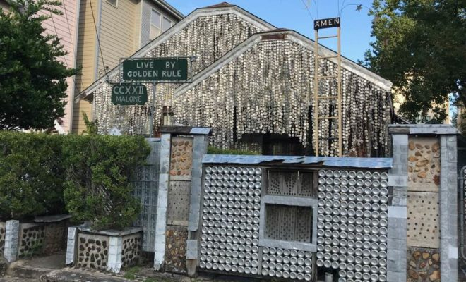 The Beer Can House in this Texas City is World-famous Folk Art