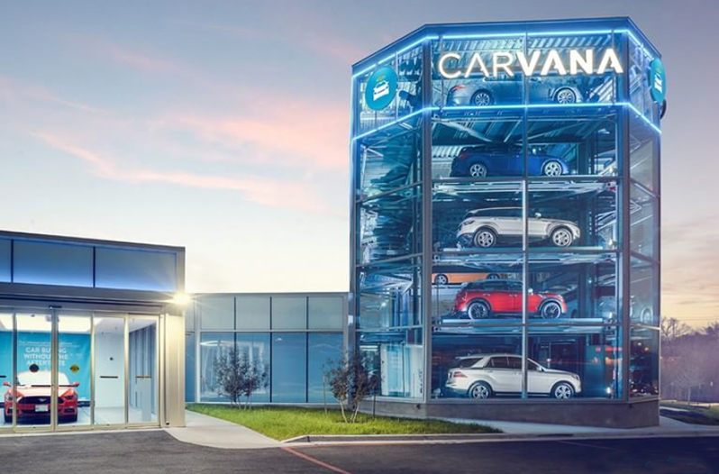 carvana vending machine locations