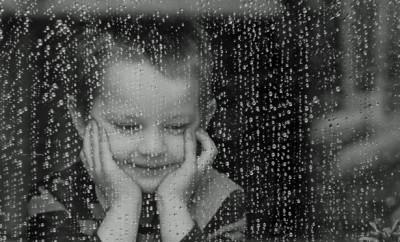child-and-rain