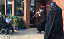 Chick-fil-A Employees Play 'Jedi' With Lonely Handicapped Child