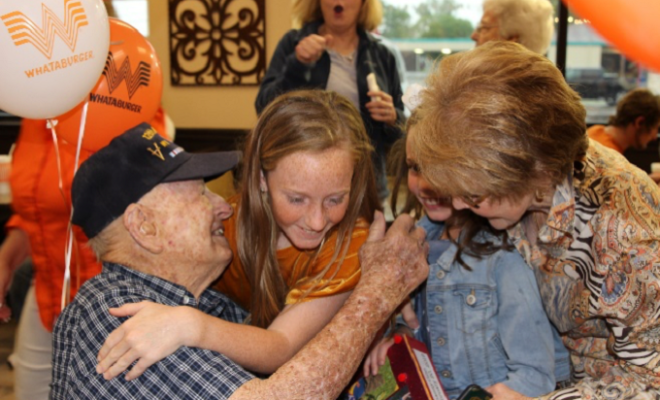 Whataburger Bash Thrown for Texas Veteran's 100th Birthday