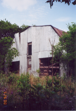 Remnants of Coxville Zoo barn in Austin, Texas circa 2000