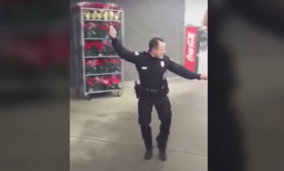 dancing cop moves